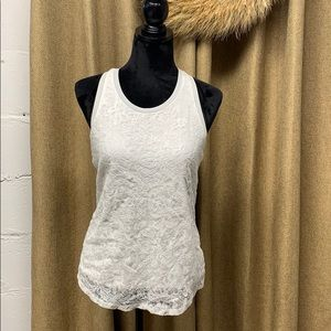 Mossimo Lace Racerback Tank